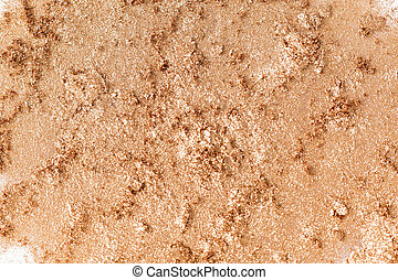texture of crushed  eye shadow isolated on white background