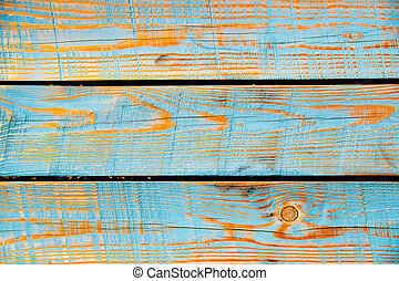 Texture of cyan painted wood