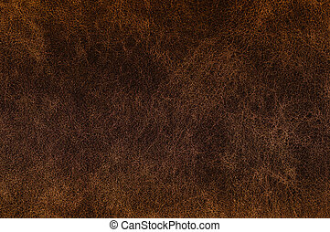 Texture of dark brown leather. - Texture of dark brown...