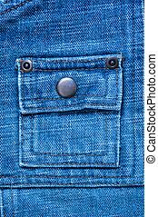texture of denim with a pocket sewn