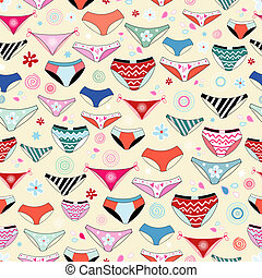 texture of different panties - beautiful pattern of seamless...