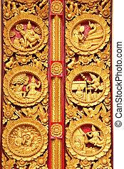Texture of door