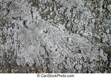 Texture of dry, cracked earth.