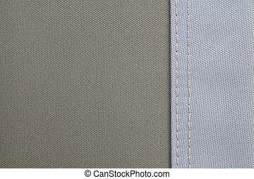 texture of fabric two color with seam