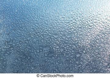 frozen water drops on glass