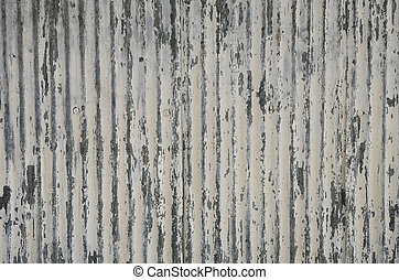 Texture of galvanized iron wall.