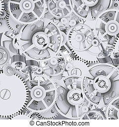 Texture of gears and cogwheels. Industrial background