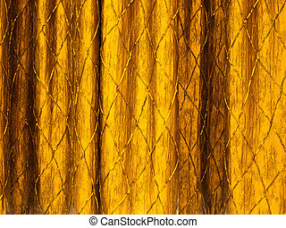 Gold curtains on a stage