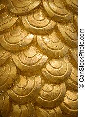 Texture of Gold half round