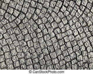 Texture of gray granite sidewalk. Background and detail.
