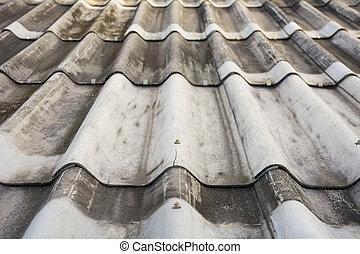 Texture of gray tile roof floor