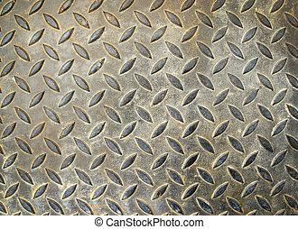 Texture of grunge floor steel plate background