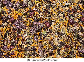 Texture of healthy herbal tea