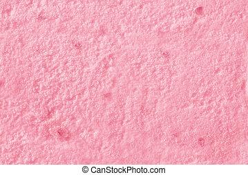 Texture of ice cream strawberry top