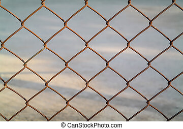 Mesh fence - Texture of Iron Mesh fence background