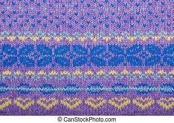 Texture of knitted wool cotton