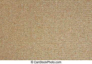 Texture of light beige fabric Matting. Close up