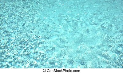 Texture of light blue water.