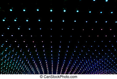 texture of many multicolored led lights