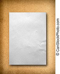 Texture of Medium Density Fiberboard - white blank paper on...