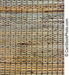 Texture of native thai style weave sedge mat background - made f
