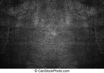 Texture of old black fabric