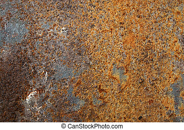 Texture of old colorful rusty surface - Texture of old aged...