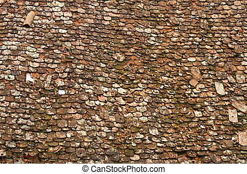 texture of old damaged roof