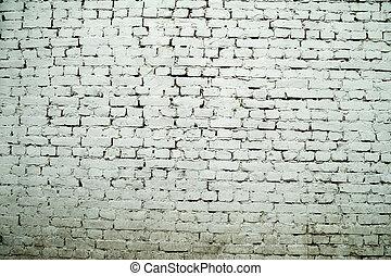 Texture of old gray brick wall