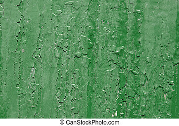 Texture of old green paint