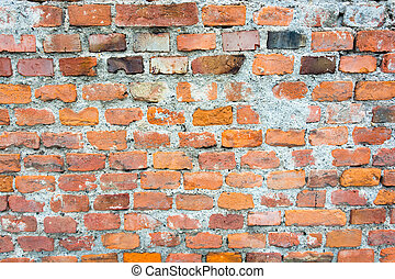 Texture of old orange brick wall