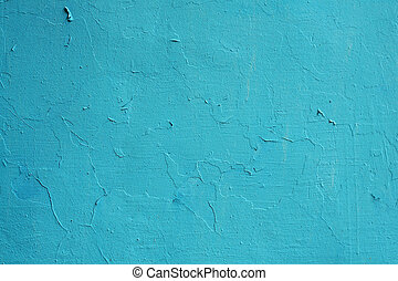 Texture of old painted blue wall