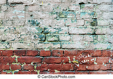 texture of old painted brick wall