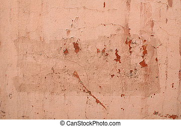 Texture of old pink stucco wall