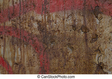 Texture of old rusty cracked painted surface wall - Texture...