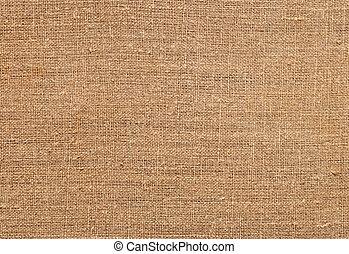 Closeup of natural burlap hessian sacking