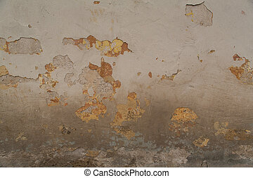 Texture of old shabby painted wall - Texture of old aged...
