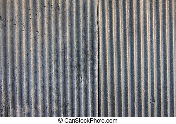 Strip zinc wall - texture of old Strip zinc wall with rusty ...
