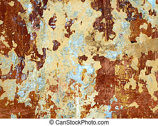 texture of old wall with a shabby paint