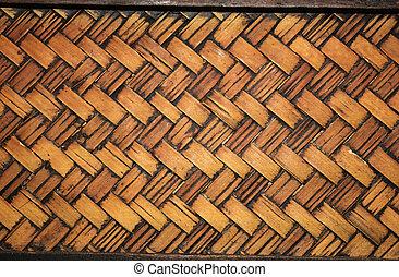 Texture of old wicker basket