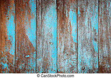 Texture of old Wood blue