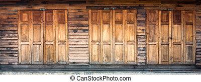 Wood Door and Wall
