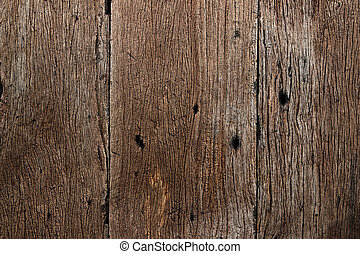 Texture of old wood plank use for background.