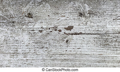 Texture of old wood with peeling white paint