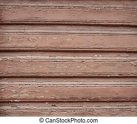 Texture of old  wooden red wall