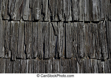 Texture of old wooden roof