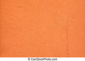 Texture of orange wall plastered