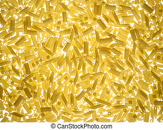 texture of pasta on white background