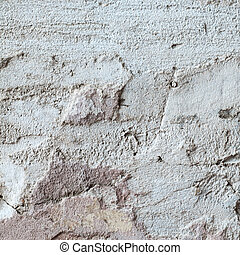texture of plaster with a large crack
