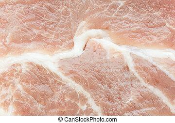 Texture of raw pork steak